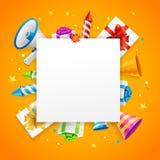 Urodzinowy lub Rocznicowy świętowanie sztandaru karty tło wektor Obrazy Royalty Free
