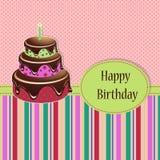 Urodzinowy powitanie szablon Zdjęcie Stock