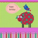 Urodzinowy powitanie szablon Zdjęcia Stock