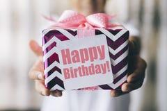 Urodzinowy prezent Zdjęcia Stock