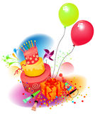 urodzinowy set Zdjęcie Royalty Free