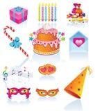 urodzinowy set Obrazy Stock