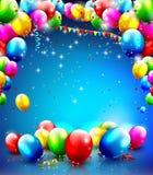 Urodzinowy szablon Fotografia Stock
