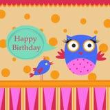 Urodzinowy szablonu kartka z pozdrowieniami Zdjęcie Stock