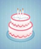 urodzinowy szczęśliwy biel Obrazy Royalty Free