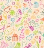 urodzinowy szczęśliwy wzór ilustracja wektor