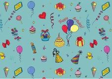 urodzinowy szczęśliwy wzór Obrazy Stock
