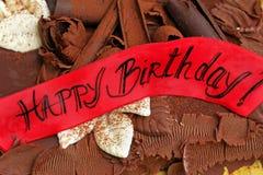urodzinowy szczęśliwy znak Zdjęcie Stock