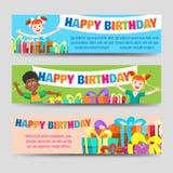 Urodzinowy sztandaru szablon ilustracja wektor