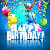 Urodzinowy tło Zdjęcia Royalty Free