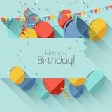 Urodzinowy tło Obraz Royalty Free
