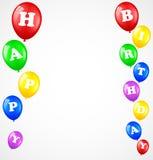 Urodzinowy tło z balonami Zdjęcie Royalty Free