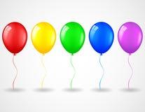 Urodzinowy tło z balonami Zdjęcia Royalty Free