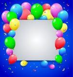 Urodzinowy tło z balonami Obrazy Stock