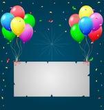 Urodzinowy tło z balonami Fotografia Stock