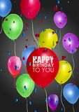 Urodzinowy tło z Kolorowymi balonami Fotografia Stock