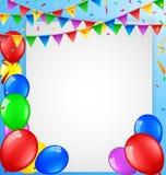 Urodzinowy tło z puste miejsce znakiem Zdjęcie Royalty Free