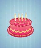 urodzinowy tort Obrazy Royalty Free