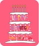 urodzinowy tort Zdjęcie Stock