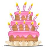 Urodzinowy tort. Obraz Royalty Free