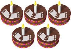 urodzinowy tort pięć jeden Obraz Royalty Free