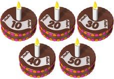 urodzinowy tort pięćdziesiąt dziesięć Zdjęcie Royalty Free