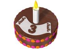 urodzinowy tort trzy Obrazy Stock