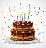 Urodzinowy tort z confetti Zdjęcia Royalty Free