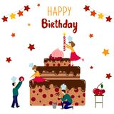 urodzinowy torta eps zawierać wektor royalty ilustracja