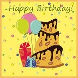 urodzinowy torta eps zawierać wektor Obrazy Royalty Free