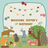 Urodzinowy zaproszenie ilustracji