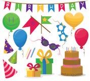 urodzinowych elementów partyjny set 10 eps Obraz Royalty Free