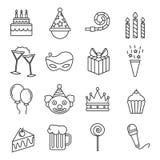 urodzinowych guzików barwiony ikon motyw Fotografia Royalty Free