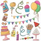 urodzinowych guzików barwiony ikon motyw Zdjęcia Royalty Free