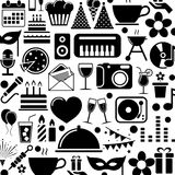 urodzinowych guzików barwiony ikon motyw Obrazy Royalty Free