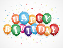 Urodziny balonowy tło Obraz Royalty Free