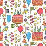 urodziny bezszwowy deseniowy Zdjęcie Royalty Free