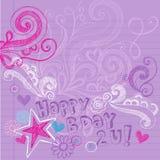 urodziny doodles szczęśliwego notatnika szkicowego wektor Zdjęcia Royalty Free