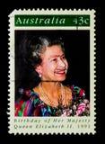 Urodziny królowa elżbieta ii, seria, około 1991 obrazy stock