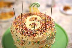Urodziny liczba sześć jest specjalny Obraz Royalty Free