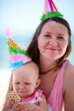 urodziny najpierw bawi się Fotografia Stock