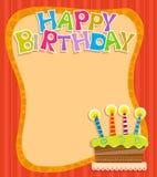 Urodziny notatka Fotografia Royalty Free
