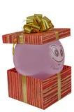 Urodziny, pudełko, świętuje, świętowanie, boże narodzenia, boże narodzenia prezenty, prezent, giftbox, odizolowywający Obraz Royalty Free