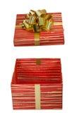 Urodziny, pudełko, świętuje, świętowanie, boże narodzenia, boże narodzenia prezenty, prezent, giftbox, odizolowywający Zdjęcia Royalty Free