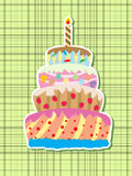 Urodziny tort Fotografia Royalty Free