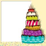 Urodziny Tort ilustracji