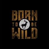 urodzony dziki jest ilustracja wektor