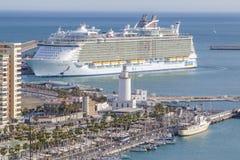 Urok morza w Malaga Zdjęcie Royalty Free