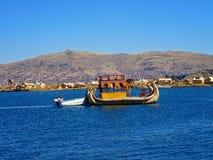 Uros, озеро Ticicaca, Перу стоковые фотографии rf