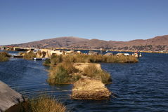 Uros - Floating island on titcaca lake in Peru Royalty Free Stock Images